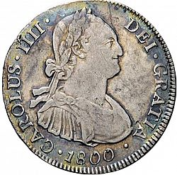Large Obverse for 4 Reales 1800 coin