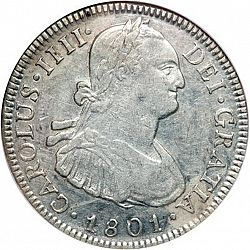 Large Obverse for 4 Reales 1801 coin