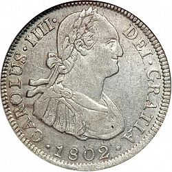 Large Obverse for 4 Reales 1802 coin