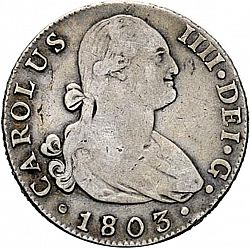 Large Obverse for 4 Reales 1803 coin