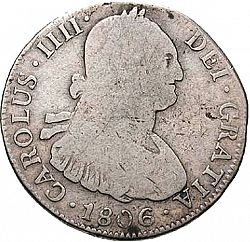 Large Obverse for 4 Reales 1806 coin