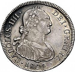 Large Obverse for 4 Reales 1807 coin