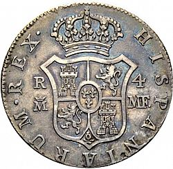 Large Reverse for 4 Reales 1793 coin