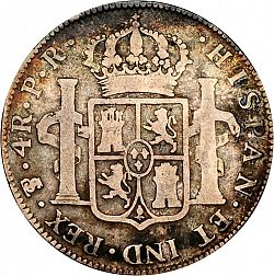 Large Reverse for 4 Reales 1795 coin