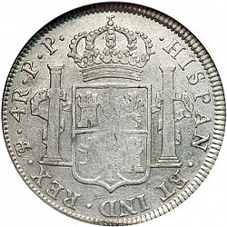 Large Reverse for 4 Reales 1796 coin