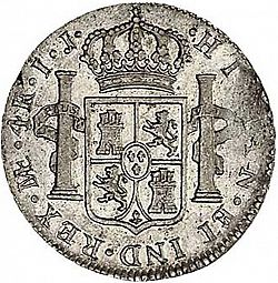 Large Reverse for 4 Reales 1797 coin