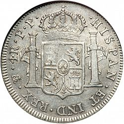 Large Reverse for 4 Reales 1798 coin