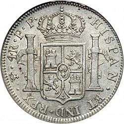 Large Reverse for 4 Reales 1800 coin