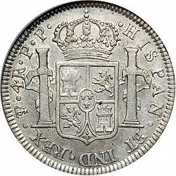Large Reverse for 4 Reales 1801 coin