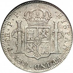 Large Reverse for 4 Reales 1802 coin
