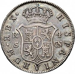 Large Reverse for 4 Reales 1807 coin
