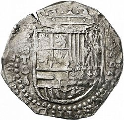 Large Obverse for 4 Reales 1593 coin