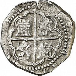 Large Reverse for 4 Reales 1593 coin