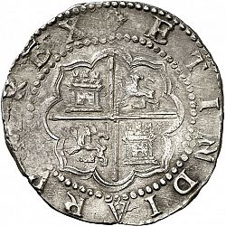 Large Reverse for 4 Reales ND/D coin