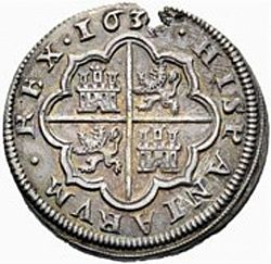 Large Reverse for 4 Reales 1633 coin