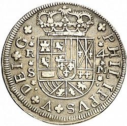 Large Obverse for 4 Reales 1718 coin