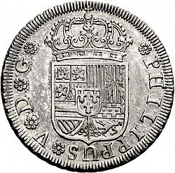 Large Obverse for 4 Reales 1730 coin