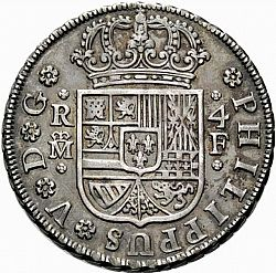 Large Obverse for 4 Reales 1731 coin