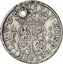 Large Obverse for 4 Reales 1738 coin