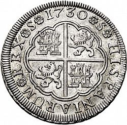 Large Reverse for 4 Reales 1730 coin