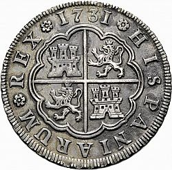 Large Reverse for 4 Reales 1731 coin