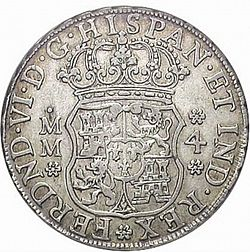 Large Obverse for 4 Reales 1755 coin