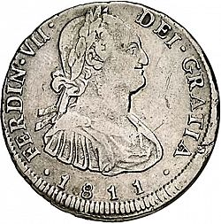 Large Obverse for 4 Reales 1811 coin