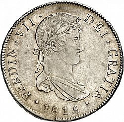 Large Obverse for 4 Reales 1815 coin