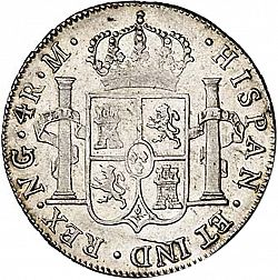Large Reverse for 4 Reales 1808 coin