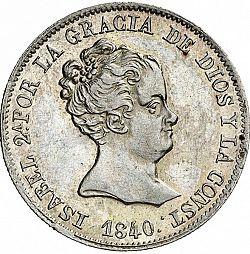 Large Obverse for 4 Reales 1840 coin