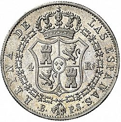 Large Reverse for 4 Reales 1840 coin