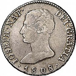 Large Obverse for 4 Reales 1808 coin