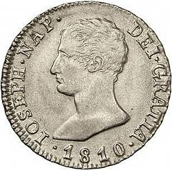 Large Obverse for 4 Reales 1810 coin