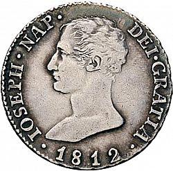 Large Obverse for 4 Reales 1812 coin