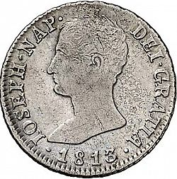 Large Obverse for 4 Reales 1813 coin