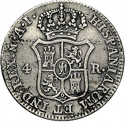 Large Reverse for 4 Reales 1809 coin