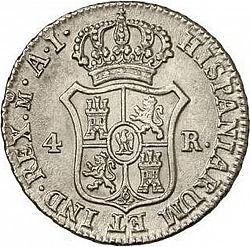 Large Reverse for 4 Reales 1810 coin