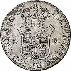 Large Reverse for 4 Reales 1811 coin