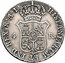 Large Reverse for 4 Reales 1812 coin