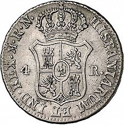 Large Reverse for 4 Reales 1813 coin