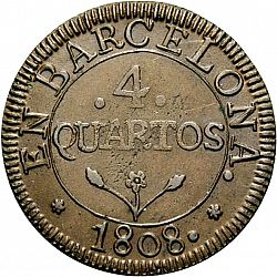 Large Reverse for 4 Cuartos 1808 coin