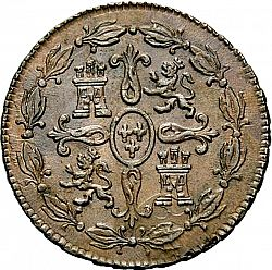Large Reverse for 4 Maravedies 1788 coin