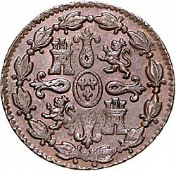 Large Reverse for 4 Maravedies 1797 coin