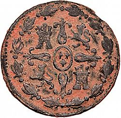 Large Reverse for 4 Maravedies 1801 coin