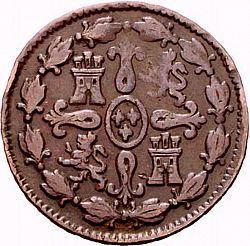 Large Reverse for 4 Maravedies 1806 coin