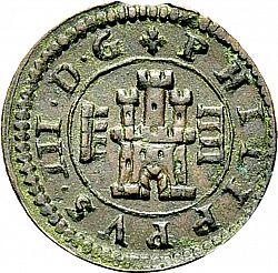 Large Obverse for 4 Maravedies 1604 coin