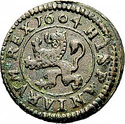 Large Reverse for 4 Maravedies 1604 coin