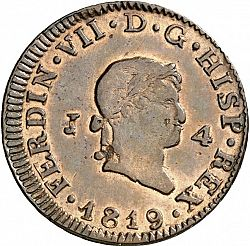 Large Obverse for 4 Maravedies 1819 coin