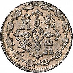 Large Reverse for 4 Maravedies 1827 coin