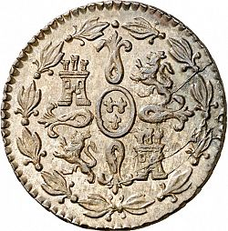 Large Reverse for 4 Maravedies 1833 coin